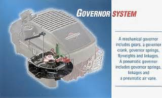 faq how a small engine governor works briggs amp stratton