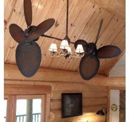 twin star ii ceiling fan twin star ii ceiling fan rustic edition with antler