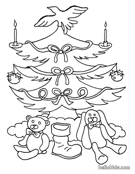 christmas tree with gifts coloring page christmas tree coloring pages xmas tree vintage ornaments