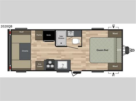 20 Foot Travel Trailer Floor Plans by Summerland 2020qb Travel Trailer