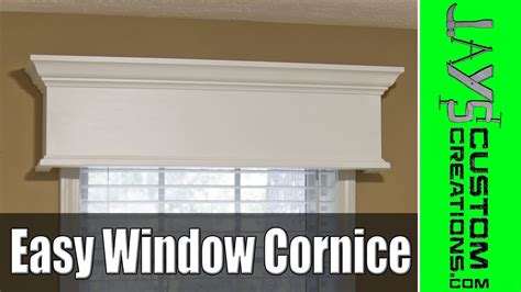 cornice window easy diy window cornice 177