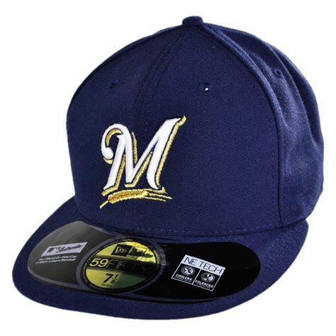 new era milwaukee brewers mlb 59fifty fitted baseball