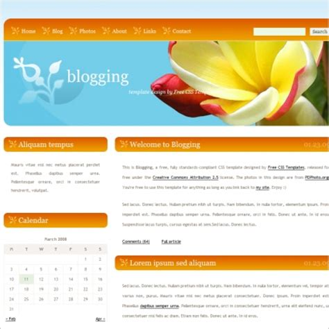 Free Templates Downloads blogging free website templates in css html js format