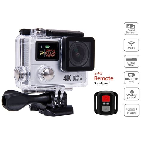 Sale Sportcam Wifi 4k Kamera Sport Wifi 4k Hd1080 Remote 4k ultra hd wifi hdmi sports sport dv dual lcd screens waterproof 72 99