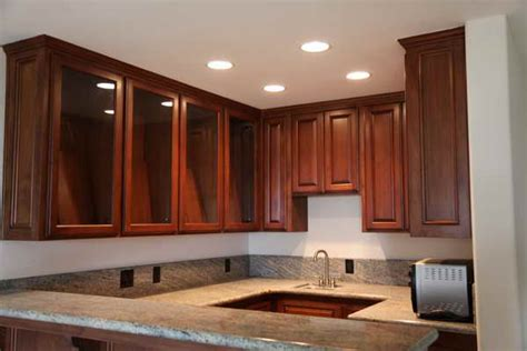 Recessed Lighting In The Kitchen Bloombety Recessed Lights In Kitchen Cabinets With Glass Recessed Lights In Kitchen