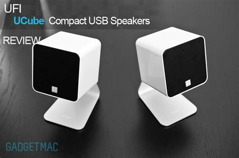 ufi ucube compact usb speakers review gadgetmac