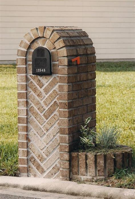 Brick Mailbox With Planter by Brick Mailboxes
