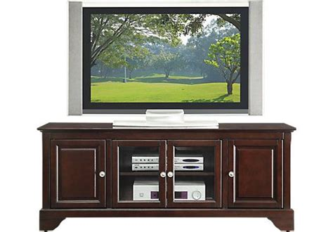 Rooms To Go Tv Stand by Merlot 60 In Console Furniture Entertainment