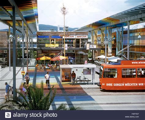 solar city a tram stop in the centre of pichling solar city a