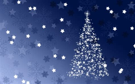 sparkling blue christmas tree wallpaper 1084294