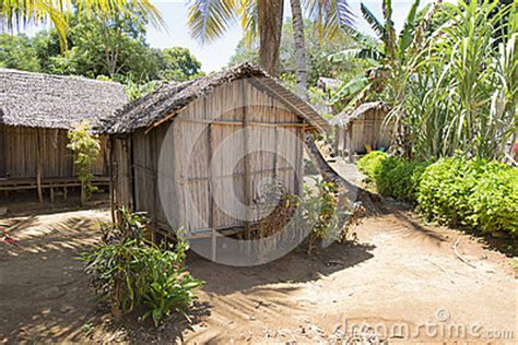 hutte tropicale en bois de hutte au madagascar tropical photo