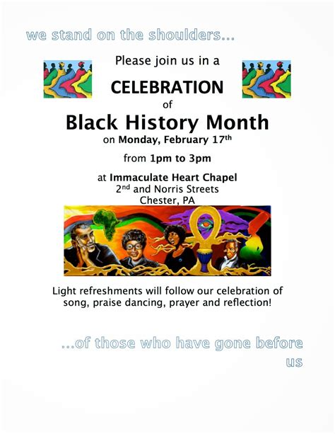 black history month church flyer templates business template