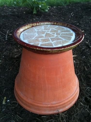 ideas    repurpose broken terra cotta pots