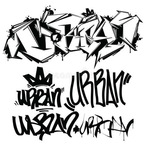 vector graffiti tags writing stock vector illustration