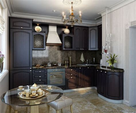 Small Kitchen Black Cabinets Pictures Of Kitchens Traditional Espresso Kitchen