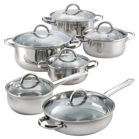 cook n home 12 stainless steel cookware set