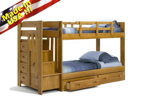 Wooden Bunk Bed With Stairs Funky Bunk Bed With Stairs Save Space Funk This House