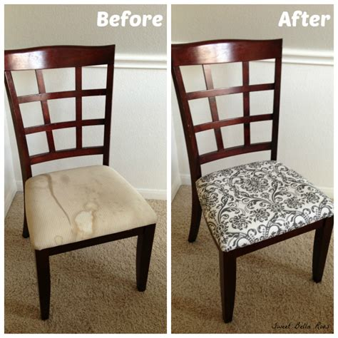 recovering dining room chair seats dining room makeover before after grace and eats