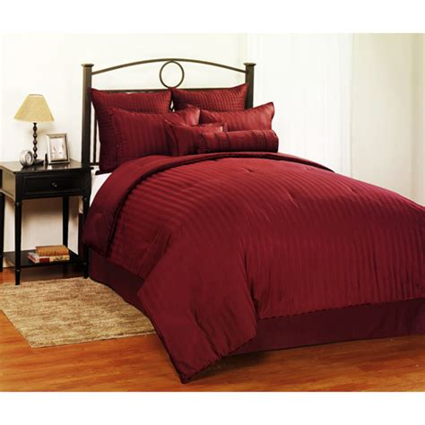 burgundy comforter queen dobby stripe 8 piece queen bedding set burgundy bedding