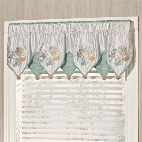 Coastal Window Curtains Coastal Window Curtains Lighthouse Window Curtain Set Valance 24 Tiers Coastal Nautical Decor