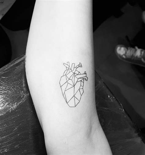 geometric tattoo tiny tiny tattoo idea geometric heart tattoo for all those