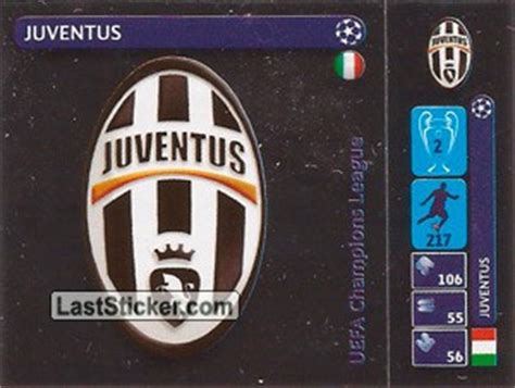 Sticker Logo Juventus Bl05 sticker 6 logo panini uefa chions league 2014 2015 laststicker