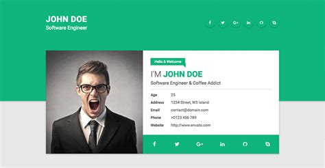 Free Resume Website Template by 18 Best Html Resume Templates For Awesome Personal