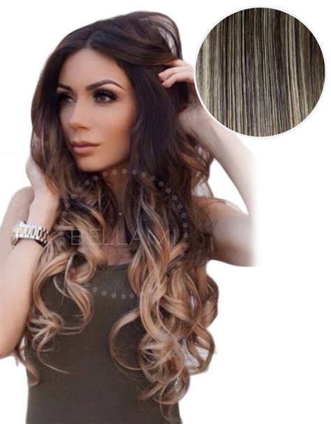 bellami ombre hair extensions balayage 160g 20 quot ombre mochachino brown hair