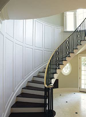 Wainscoting Stairs by Paint Grade Wainscot On A Curved Stairwell Homebuilding