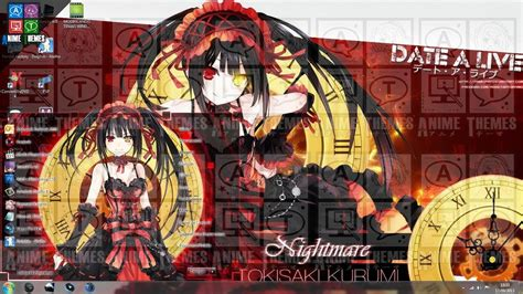 download theme windows 7 kurumi tokisaki tema kurumi tokisaki para windows 7 by felipeanimes
