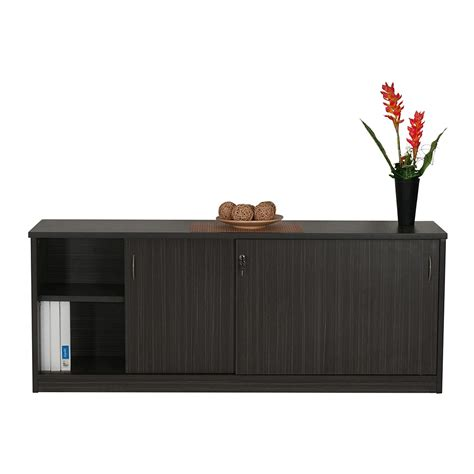 credenza with doors sliding door credenza or buffet blackened linewood