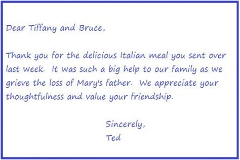 Thank You Letter For Lunch Thank You For Lunch Note Images