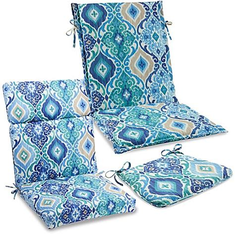 bed bath and beyond outdoor pillows outdoor cushions and pillows in ikat blue bed bath beyond