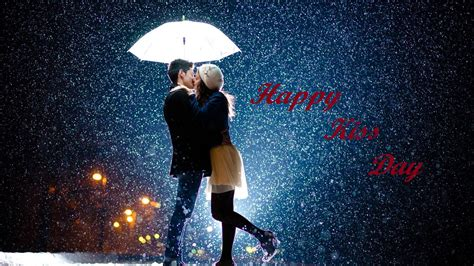 couple wallpaper with umbrella happy kiss day 2018 hd images greeting pictures download