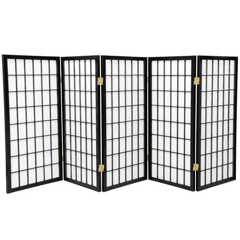 5 panel room divider 3 ft black 5 panel room divider wp36 blk 5p the home depot