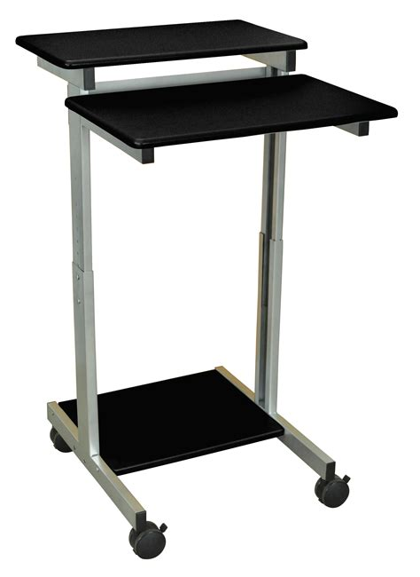 luxor standup 24 b adjustable height stand up workstation