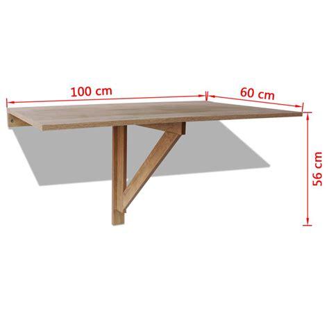 tavolo da parete vidaxl tavolo pieghevole da parete in quercia 100x60 cm