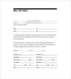 general bill of sale 10 free word excel pdf format