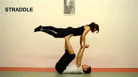 acro yoga tutorial beginner acroyoga beginner tutorial 6 straddle youtube