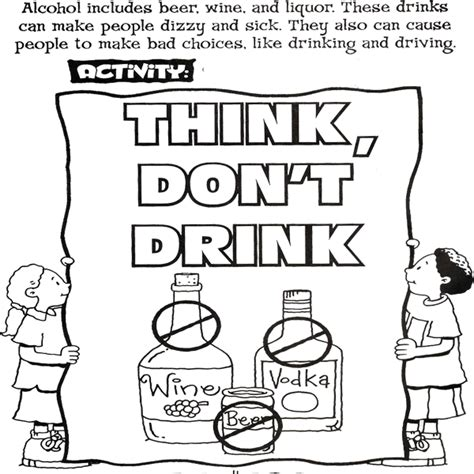 coloring pages drug free teaching kids about the dangers of drug and alcohol abuse