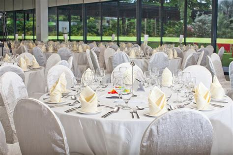 banquet table decorations photos formal table setting banquet table decoration stock image