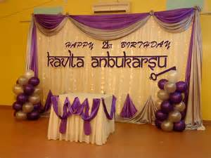 21st birthday decorations for raags management services 21st birthday deco purple white