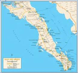 maps of baja california mexico map travel