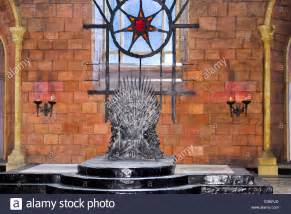 of thrones throne room set iron throne in the throne room of the great king s landing stock photo royalty free image