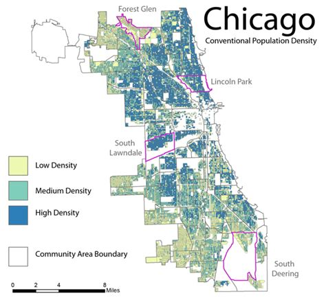 chicago map demographics the vertical space problem perdue cartographic