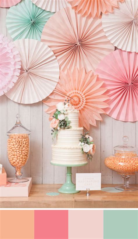 Good Color Combinations For Bedrooms 5 peach color palettes for your wedding day