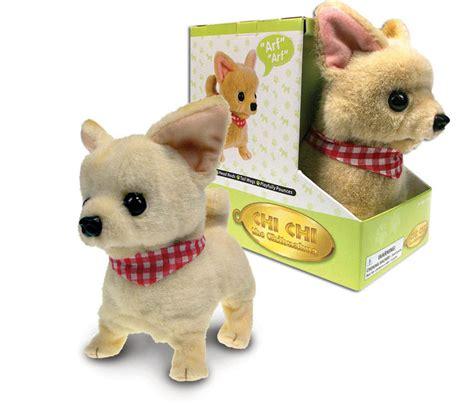 lifelike puppy chihuahua lifelike stuffed animal barking walking wagging electronic