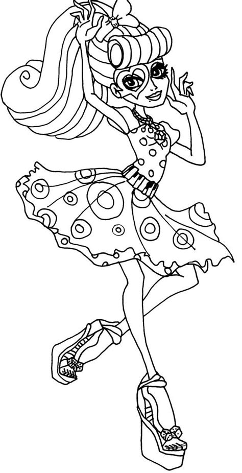 monster high operetta coloring pages monster high pictures to print and color coloring home