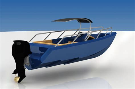 center console boats over 35 feet deepv center console offshore boat step iges 3d cad
