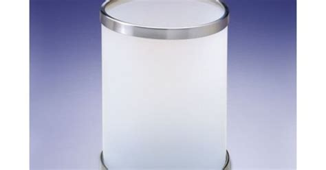 glass bathroom trash can waste basket windisch 89103m round frosted glass